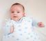 Gloop Baby sacco a pelo in cotone biologico (Blue Clouds)