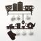 Adesivo cucina Adesivi murali adesivi per cucina decorazione cucina wall stickers Stencil...
