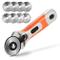 Rotary Cutter, AGPtEK Set di taglierine rotative da 45 mm con 8 lame di ricambio, blocco d...