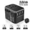 LOETAD Adattatore Universale da Viaggio con 4 Porte USB 3.0 e 1 Interfaccia Type-C Adatto...