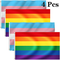 Fiyuer Bandiera Arcobaleno Gay 4Pcs Bandiera Transgender LGBT bisessuale Pace Grande Picco...