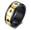 Vnox Nero Acciaio Inox Spades Cuore Club Diamante Anello di Poker Anello Carte da Gioco An...