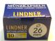Lindner - 100 capsule portamonete originali da 26 mm, per monete da 2 euro