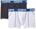 DIM 3D Flex Air Boxer Long X2 Pantaloncini, Multicolore (Blanc Ct Bleu/Gris Plomb Ct Bleu)...