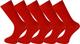 Mysocks® 5 paia caviglia calzini rosso