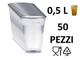 Kpack 50 Bicchieri Trasparenti MONOUSO 50cl 500ml PLASTICA PP