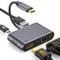 MOKAI START Adattatore USB C VGA HDMI, 4 in 1 Tipo C a 4K HDMI + 1080P VGA Connettore con...