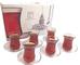Pasabahce Design Set di 6 bicchieri da tè turchi da 120 cc e piattini (confezione in lingu...