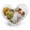 LaMAGLIERIA Cuscino Personalizzato a Cuore con la Tua Foto - 40cmx40cm - Formato Love a Cu...