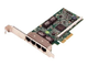Broadcom 5719 QP 1Gb Network Interface Card, Low Profile,CusKit