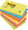 Post-it Super Sticky Foglietti, 100 Fogli, Confezione da 6 Blocchetti, 76 x 127 mm, Multic...
