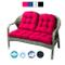 Keyohome 3pcs Set Cuscino Panca da Giardino per Balcone Sedile per Patio 1 Sedile 110x50 c...