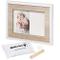 Baby Art Tiny Style Cornice Portafoto Con Kit Impronta Per Mano O Piede Del Neonato, Regal...