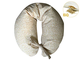 Merrymama - Cuscino allattamento + fodera con lacci/cm 130 (imbottito in pula di farro bio...