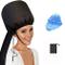 Cofano per asciugacapelli con asciugamano blu, cappuccio portatile morbido – cuffia per as...
