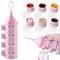 MUUZONING Dispenser di Latte in Polvere, BPA Libero Portatile Impilabile Scatola per Latte...