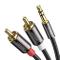 UGREEN Cavo Adattatore 3,5mm a 2RCA Maschio Audio Stereo per Connessione tra Smartphone, M...