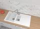 respekta HOUSTON100X50W Lavandino, 60% Materiale Composito di minerali e Fibre di Vetro, 4...
