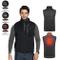 Gilet riscaldato Elettrico USB Carica Giacca Abbigliamento Regolazione della Temperatura a...