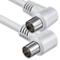 1aTTack.de - Cavo per antenna con connettore coassiale F da maschio a femmina, a doppia, t...