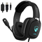 Cuffie Gaming PS4 PC Xbox One, Maegoo Over Ear Cuffie da Gaming con Microfono Luce LED Can...