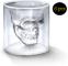 amzdeal, Bicchiere in Vetro, con Teschio, Confezione da 6Bicchieri da 75ml, Ideale per W...