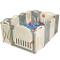 GOPLUS Cancelletto Grande, Box per Bambini, Recinto Antisciovolo con Sicurezza(12 Pezzi)
