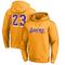 Pallacanestro con cappuccio Jersey - L.A. Lakers # 23 Lebron James a maniche lunghe con ca...
