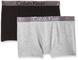 Calvin Klein 2 Pack Trunk Boxer, Multicolore (1 Black / 1 Grey Heather 034), 140 (Taglia P...