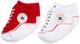 Converse 2 Pack Booties Calze, Rosso (Red), 0/6 mesi (Taglia Produttore: 0-6M) Unisex-Bimb...