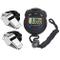 Danolt 3 Pezzi Set da Allenamento Sportivo daCronografo LCD da 1 Pezzo con fischio in Meta...