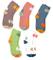 Maiwa calze di cotone da ragazza senza giuntura con modello gattino 5 paia (bambini piccol...