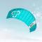 Skymonkey Windtrainer 2.3 Aquilone da trazione/Kite a 4 Cavi Ready 2 Fly 230 cm [Verde-Pet...