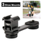 Sutefoto PT-3 3 in 1 Triple Cold Shoe Mounts Plate,Microphone Led Video Light Extension S...