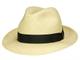 Borsalino Quito Media - Cappello da panama classico medio nero naturale (714-3). 62