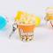 FHTMTY Portachiavi Creativi Popcorn Banana Limone Portachiavi Portachiavi per Auto da Donn...