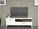 Homemania Mobile Porta TV Sun, Legno, Bianco-Noce, 120x31,7x48,6 cm