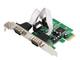 Miwaimao 2 Port RS232 RS-232 Serial Port Com to PCI-E PCI Express Card Adapter Converter I...