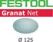 Festool 203295 - Rete abrasiva STF D125 P100 GR NET/50, acciaio grigio, set da 50 pezzi