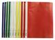 Idena 307007 - Cartelline A4 in plastica, 10 pezzi, 5 colori, 2 x Blu/Bianco/Giallo/Verde/...