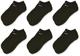 Nike Everyday Lightweight No-Show Calzini, Adulto, Nero (Black/White), M, Confezione da 6