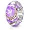 MATERIA{925} argento perline Murano ciondolo fiore viola - perle in vetro lilla per Beads...