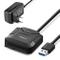 UGREEN Adattatore SATA USB 3.0 per SSD HDD 2.5''3.5'' 12TB con Alimentatore DC 12V, Cavo S...