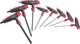 Vigor V1409 - Set di 8 chiavi a brugola con impugnatura a T