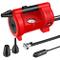 oasser Compressore Portatile per Auto Mini Pompa Aria P4 12V DC Multiuso con 3 Ugelli Adat...