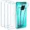 Leathlux Cover Xiaomi Redmi Note 9S / Note 9 PRO Max Custodia Trasparente + 3 × Pellicola...