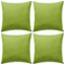 vidaXL 4X Cuscini da Esterno Verde Cuscinetti Guanciali Decorativi da Giardino