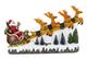 25 twentyfive Slitta di Babbo Natale con Renne, luci, Musica (23 x 40 x 9,5 cm)