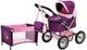 Bayer Design - 13057b - Doll Stroller Landau - Trendy con Letto - Regolabile - Plum - 68 C...