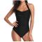 Mbby Costume da Bagno Shaping Donna Intero Taglie Forti Push up Trikini Halter Monokini Ti...